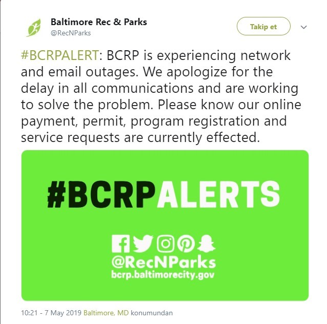 Baltimore Cyber Attack